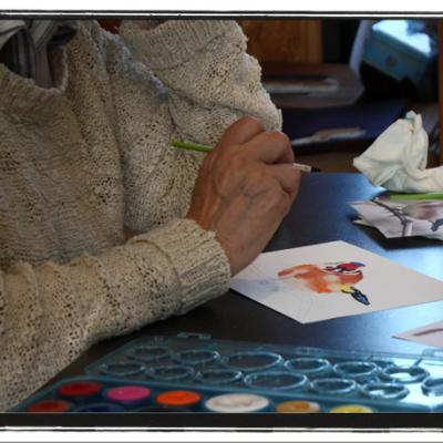 Atelier aquarelle du 13 mars 2016