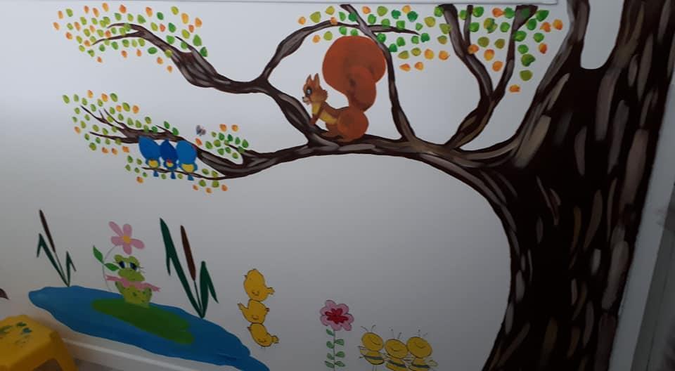 Fresque de la crèche de Nanteuil le Haudouin