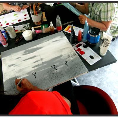 Initiation à la peinture acrylique - 2015