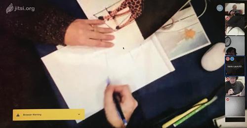 Cours de dessin en visioconference marie laure konig