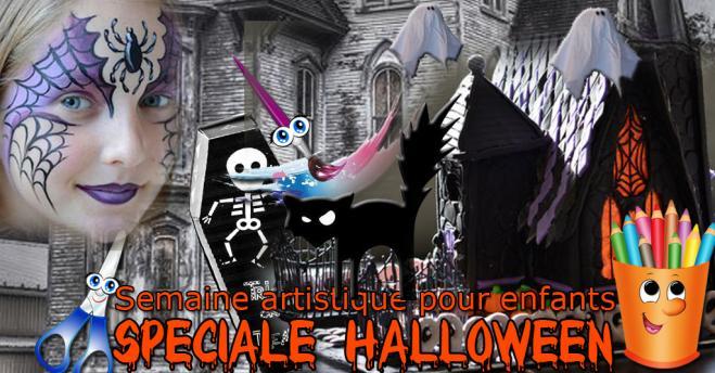 Evenement semaine artistique fb halloween